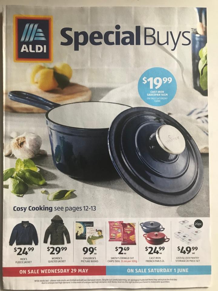 Aldi Australia Catalogue Wednesday 29 May & Saturday 1 June2019