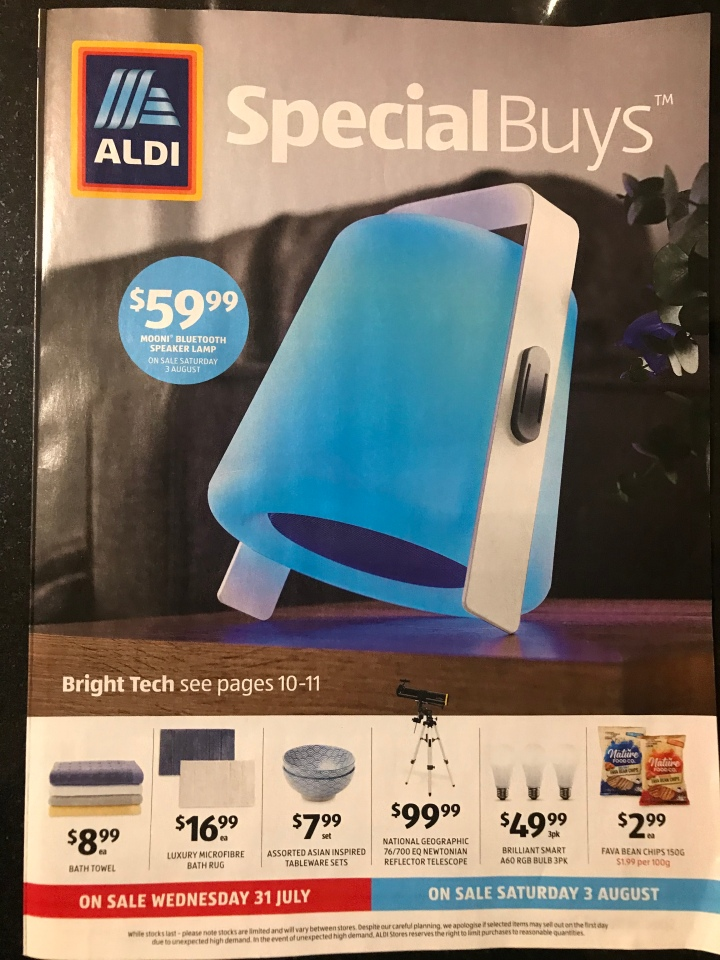 Aldi Australia Catalogue Wednesday 31 July & Saturday 3 August 2019