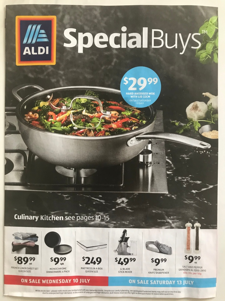 Aldi Australia Catalogue Wednesday 10 July & Saturday 13 July 2019