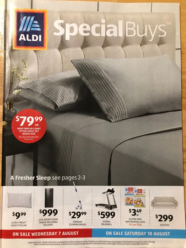 Aldi Australia Catalogue Wednesday 7 August & Saturday 10 August 2019