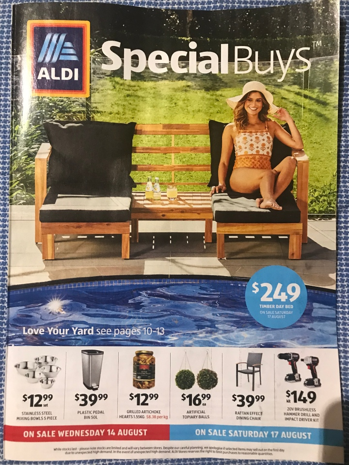 Aldi Australia Catalogue Wednesday 14 August & Saturday 17 August 2019