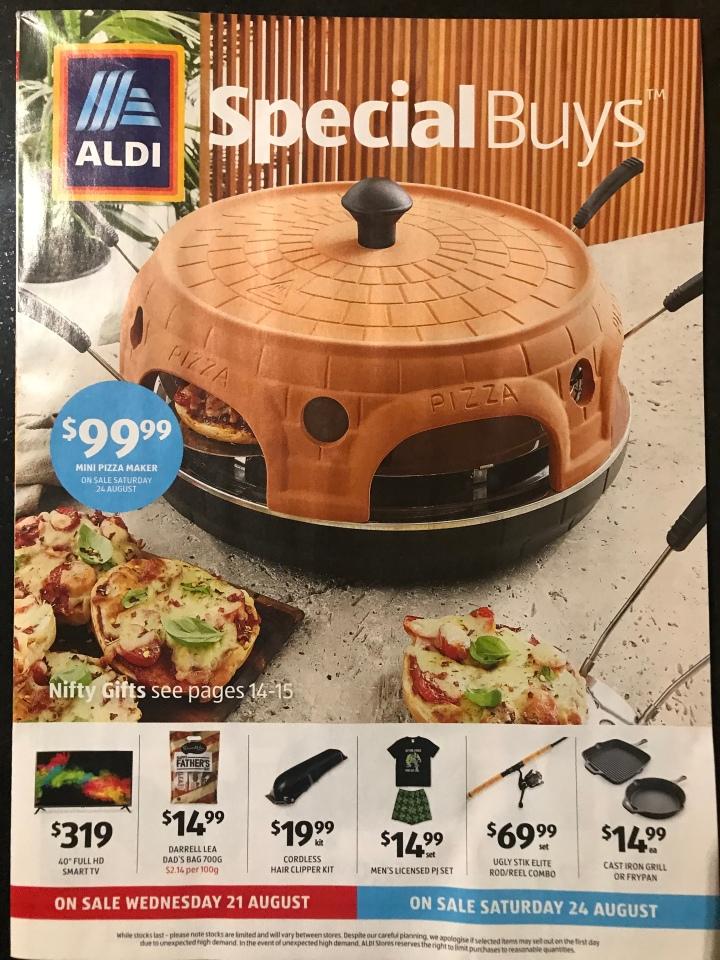 Aldi Australia Catalogue Wednesday 21 August & Saturday 24 August2019
