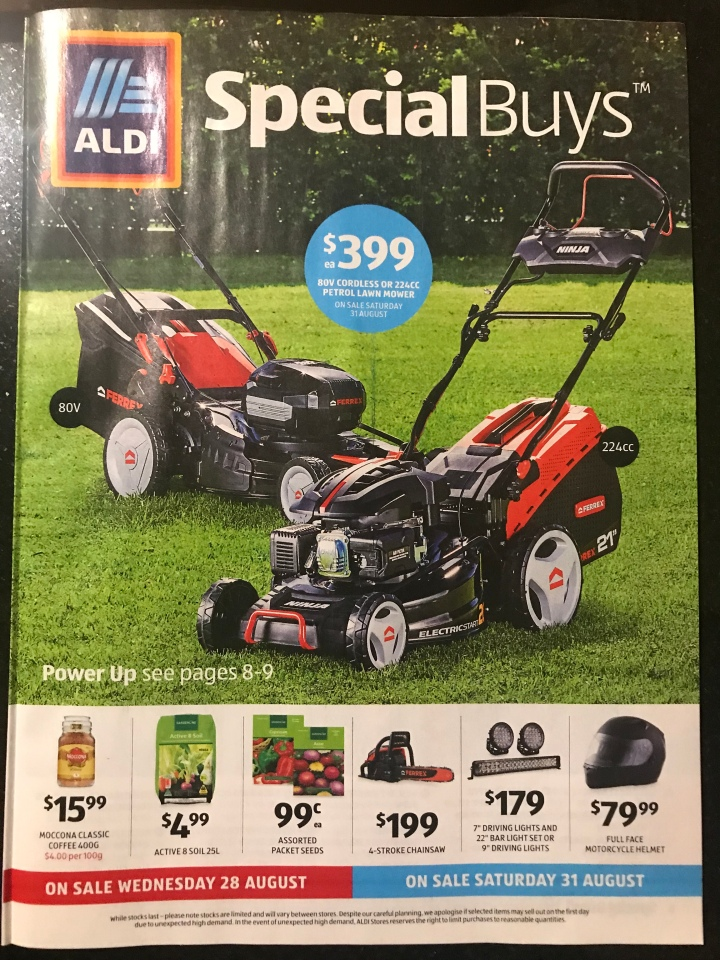 Aldi Australia Catalogue Wednesday 28 August & Saturday 31 August 2019