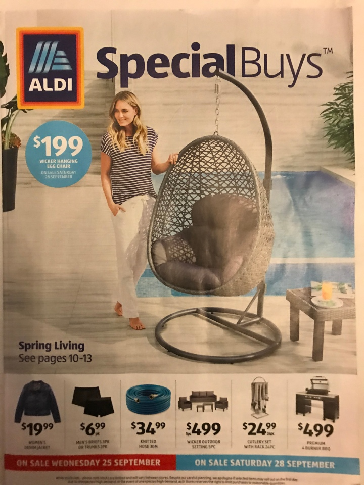 Aldi Australia Catalogue Wednesday 25 September & Saturday 28 September 2019