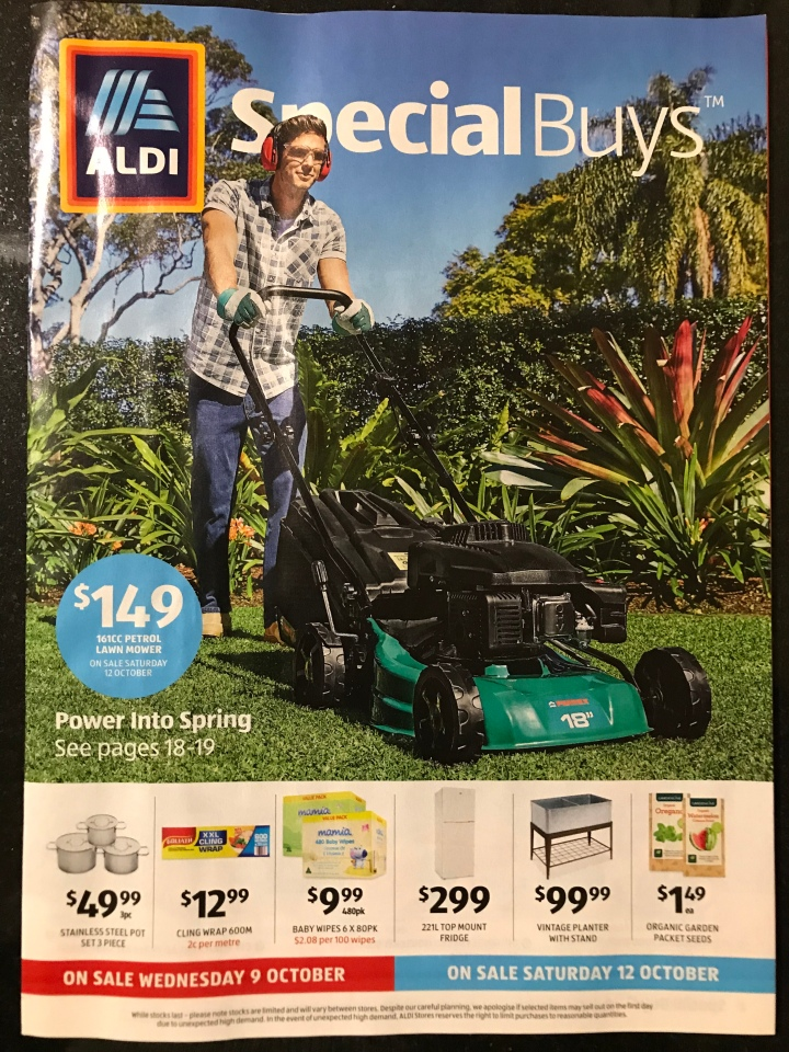 Aldi Australia Catalogue Wednesday 9 October & Saturday 12 October 2019