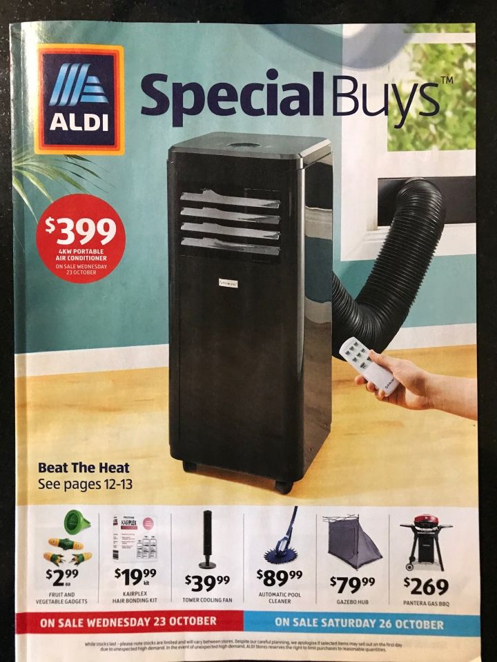 Aldi Australia Catalogue Wednesday 23 October & Saturday 26 October 2019
