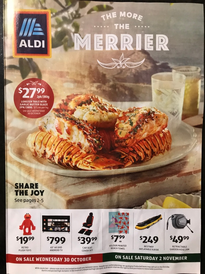 Aldi Australia Catalogue Wednesday 30 October & Saturday 2 November 2019