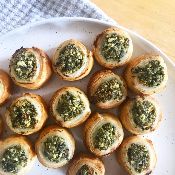 Spinach & Fetta Pastry Scrolls