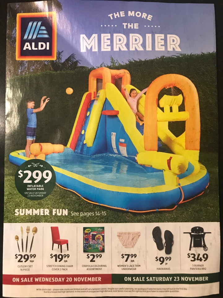 Aldi Australia Catalogue Wednesday 20 November & Saturday 23 November 2019