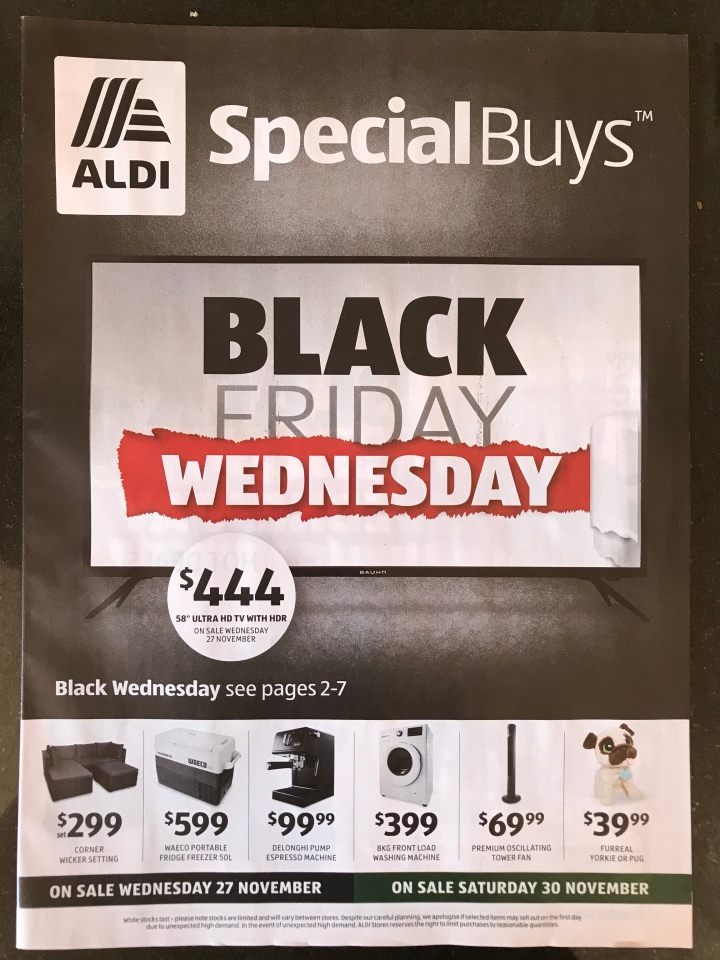 Aldi Australia Catalogue Wednesday 27 November & Saturday 30 November 2019