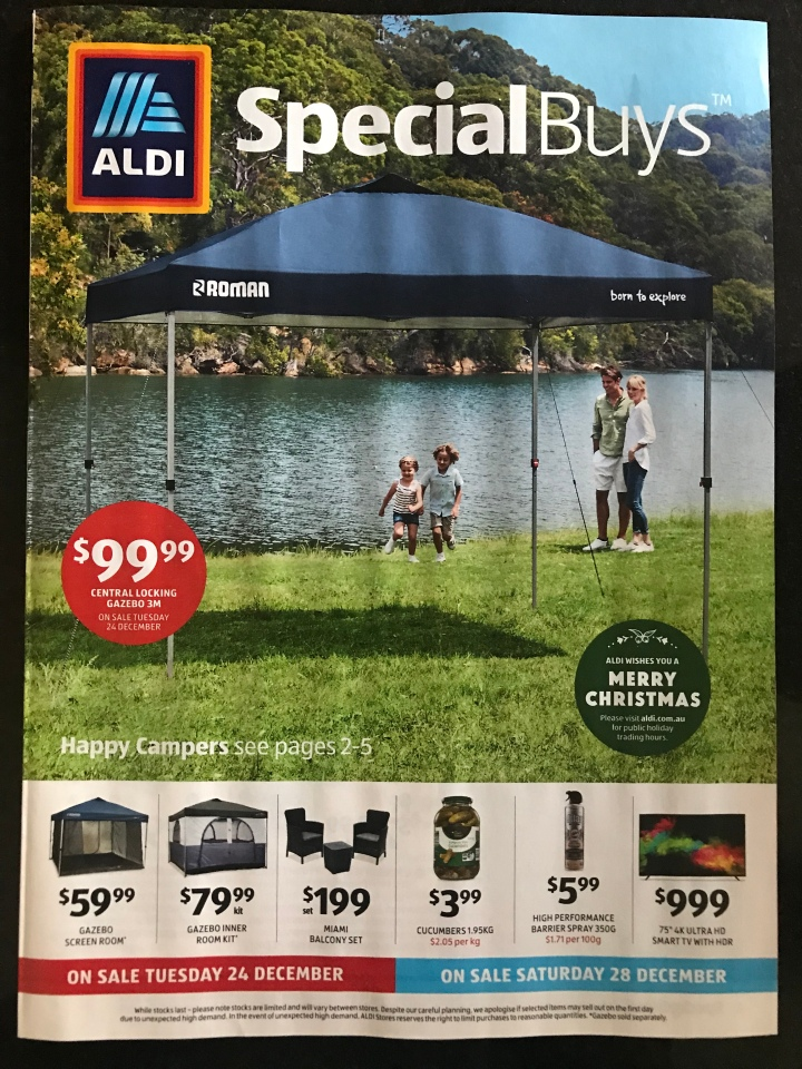 Aldi Australia Catalogue Tuesday 24 December & Saturday 28 December 2019