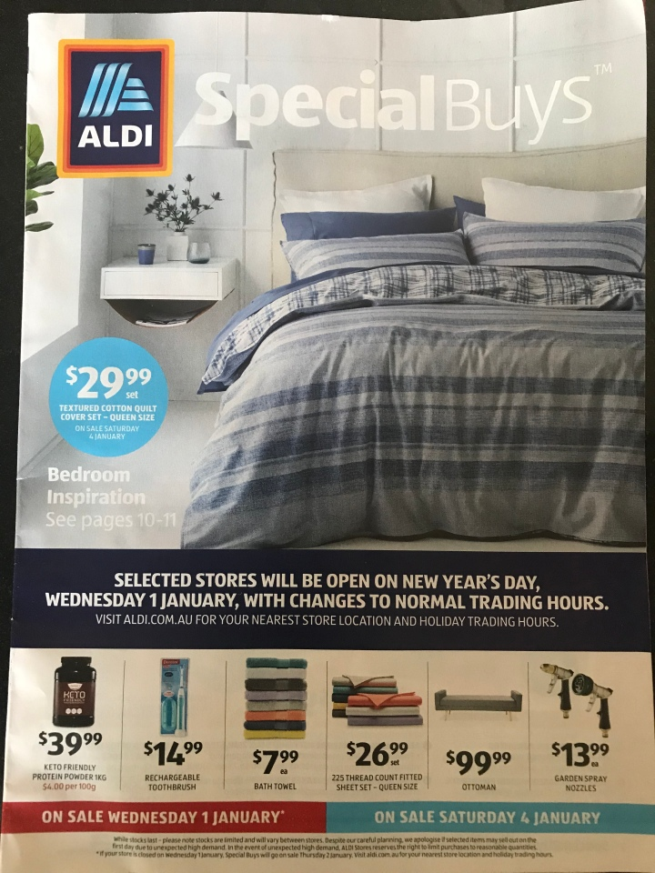 Aldi Australia Catalogue Wednesday 1 January & Saturday 4 January 2020