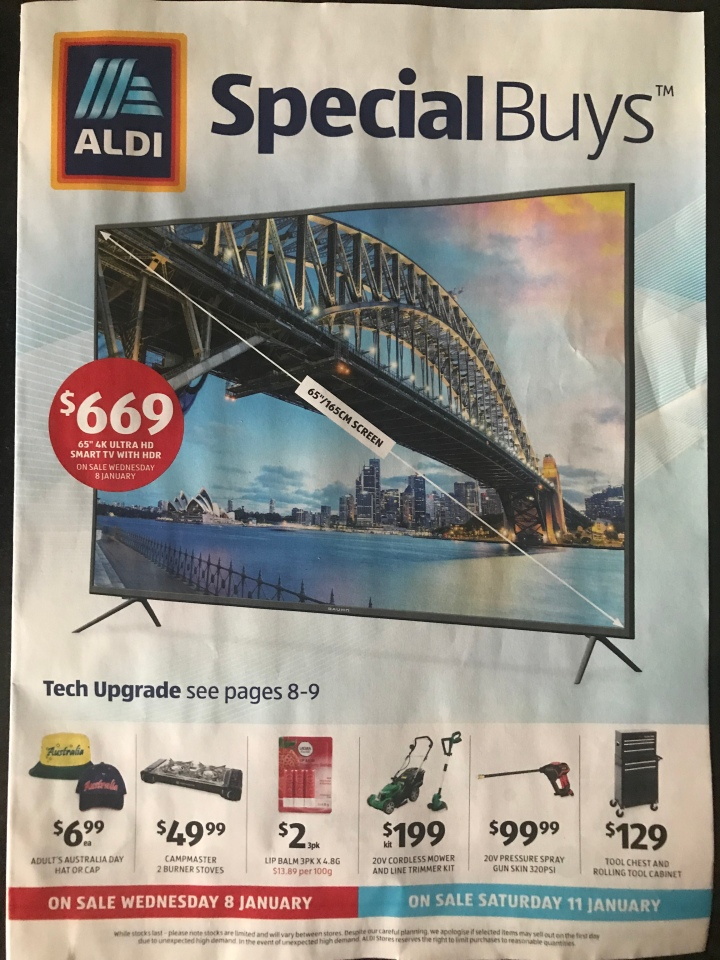 Aldi Australia Catalogue Wednesday 8 January & Saturday 11 January 2020