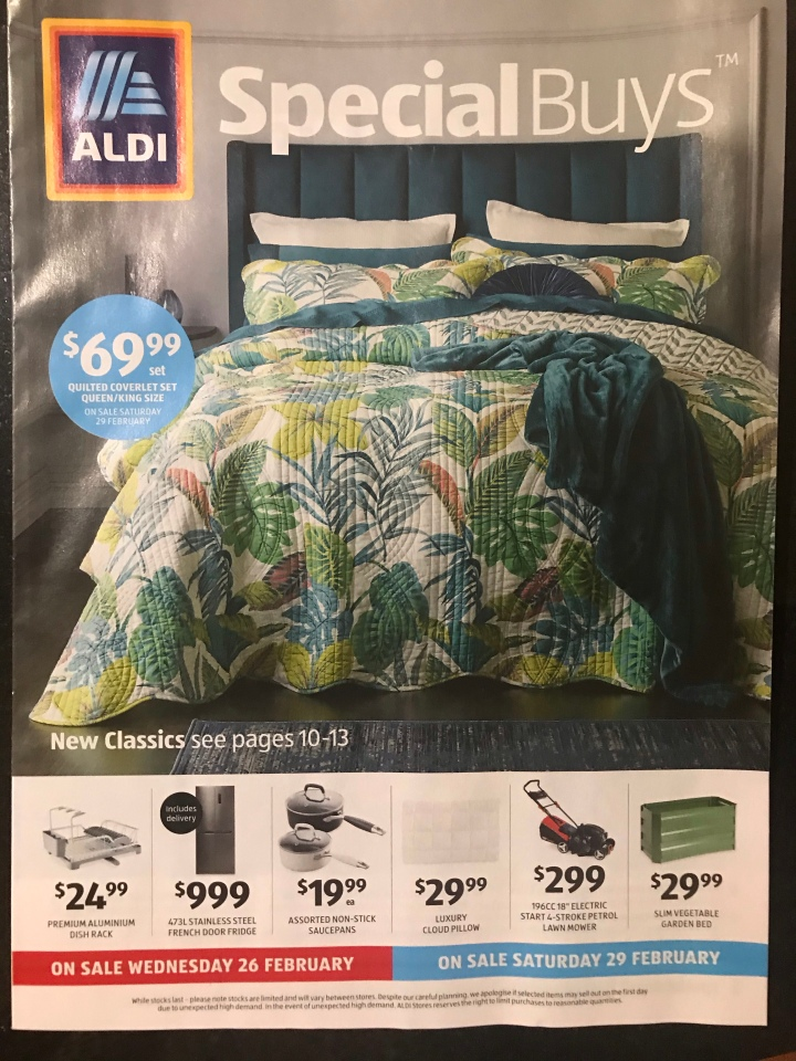 Aldi Australia Catalogue Wednesday 26 February & Saturday 29 February 2020