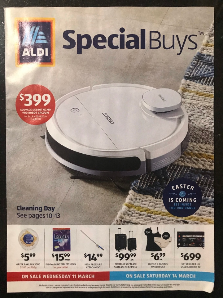 Aldi Australia Catalogue Wednesday 11 March & Saturday 14 March 2020