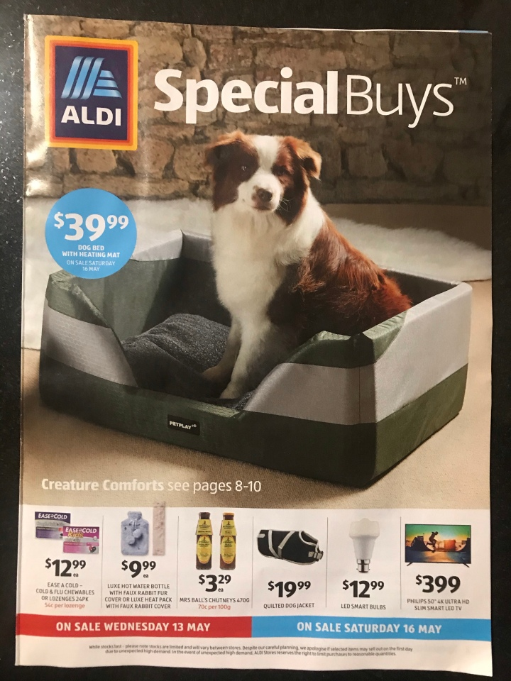 Aldi Australia Catalogue Wednesday 13 May & Saturday 16 May 2020