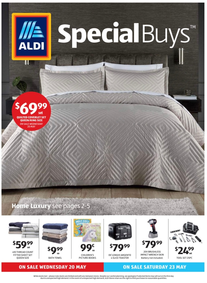 Aldi Australia Catalogue Wednesday 20 May & Saturday 23 May 2020