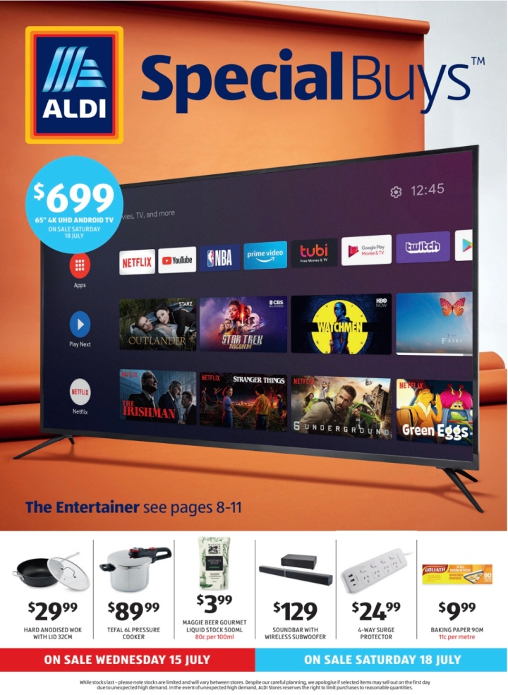 Aldi Australia Catalogue Wednesday 15 July & Saturday 18 July2020