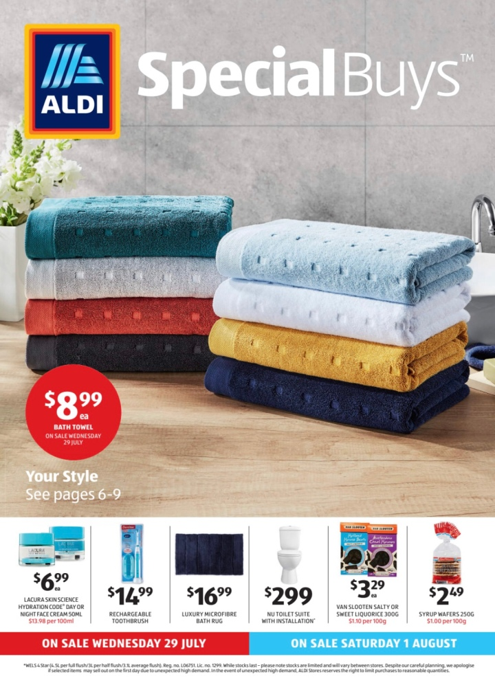 Aldi Australia Catalogue Wednesday 29 July & Saturday 1 August 2020