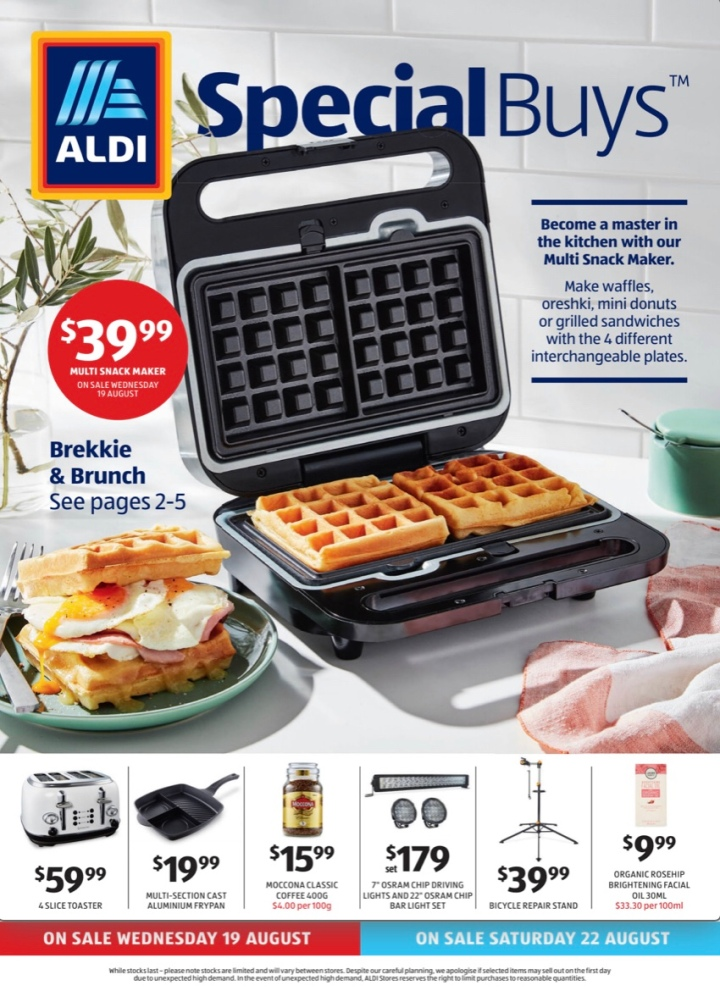 Aldi Australia Catalogue Wednesday 19 August & Saturday 22 August 2020