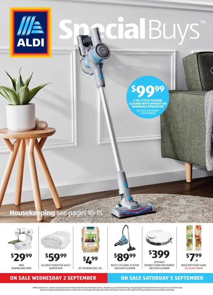 Aldi Australia Catalogue Wednesday 2 September & Saturday 5 September 2020