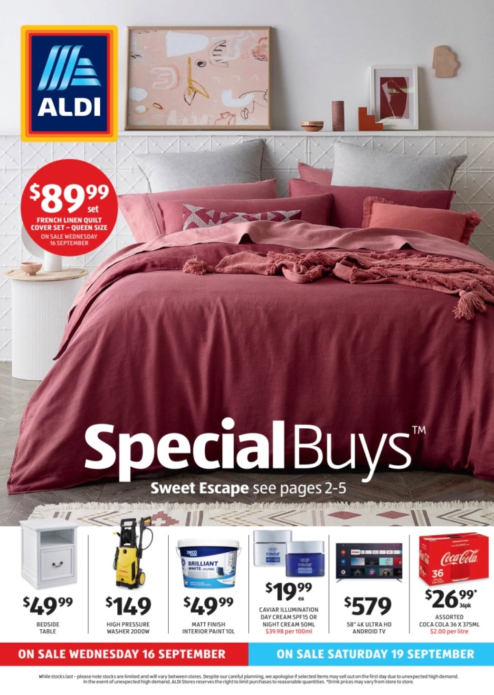 Aldi Australia Catalogue Wednesday 16 September & Saturday 19 September 2020