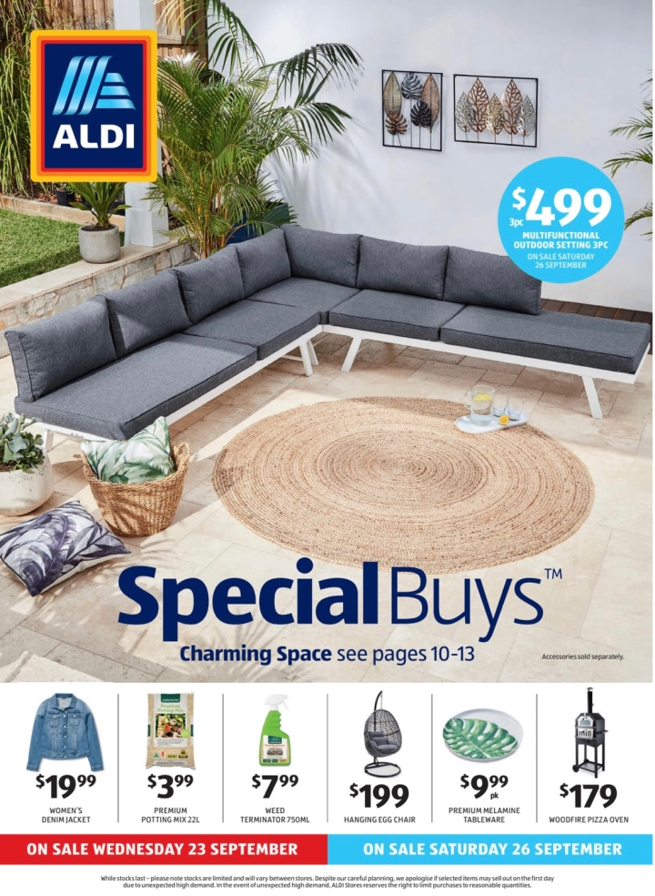 Aldi Australia Catalogue Wednesday 23 September & Saturday 26 September 2020
