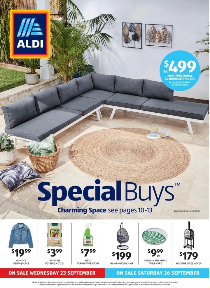 Aldi Australia Catalogue Wednesday 23 September & Saturday 26 September2020
