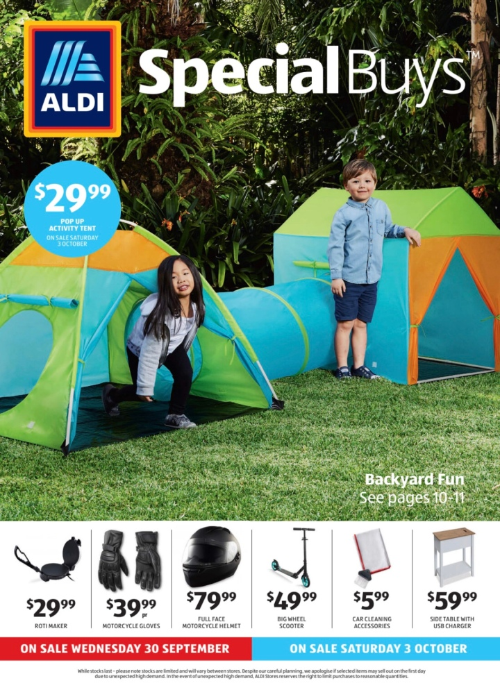 Aldi Australia Catalogue Wednesday 30 September & Saturday 3 October2020