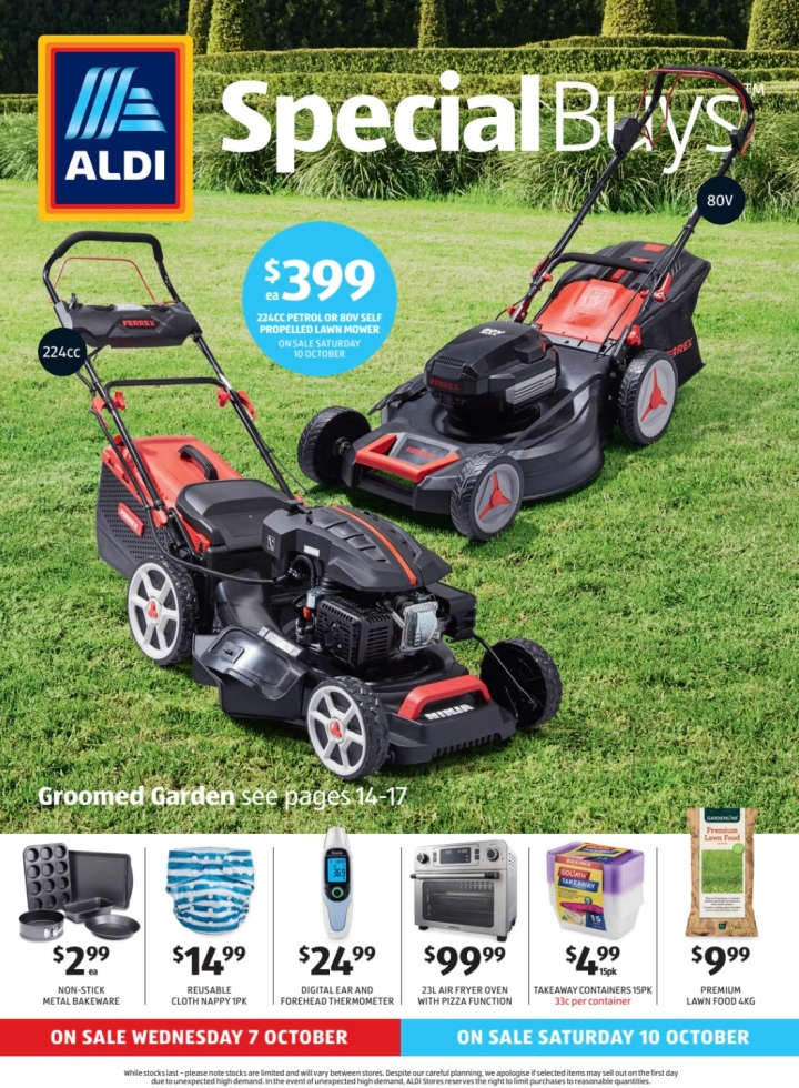 Aldi Australia Catalogue Wednesday 7 October & Saturday 10 October 2020