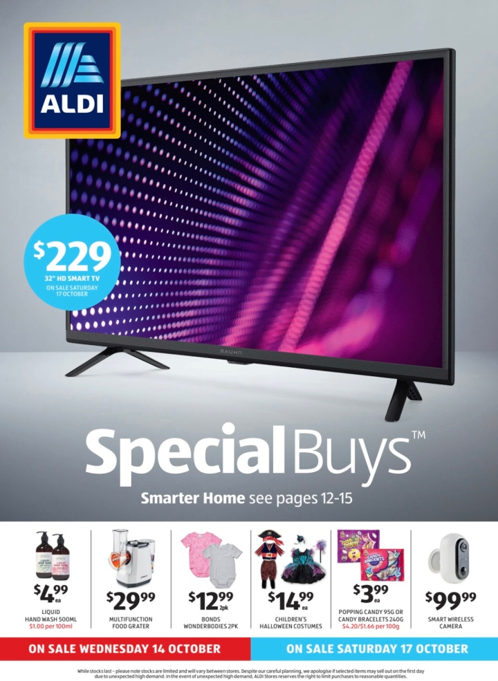 Aldi Australia Catalogue Wednesday 14 October & Saturday 17 October 2020