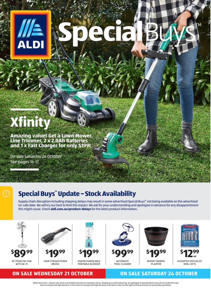 Aldi Australia Catalogue Wednesday 21 October & Saturday 24 October 2020