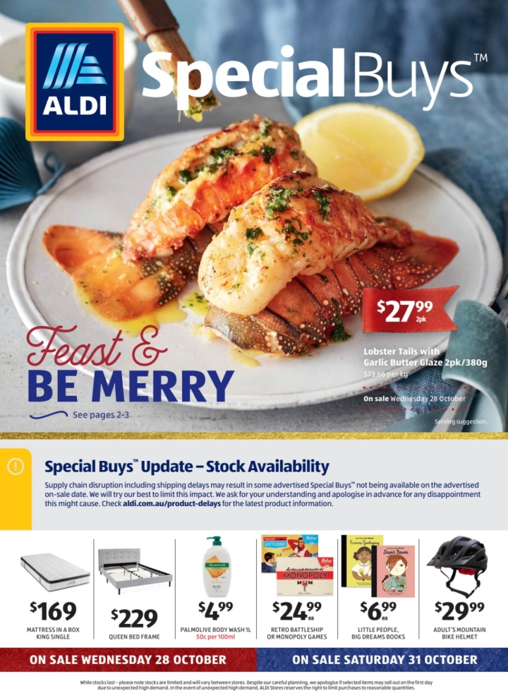Aldi Australia Catalogue Wednesday 28 October & Saturday 31 October 2020