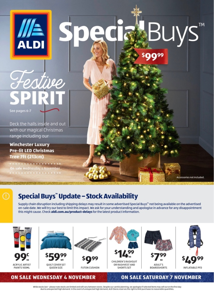 Aldi Australia Catalogue Wednesday 4 November & Saturday 7 November 2020