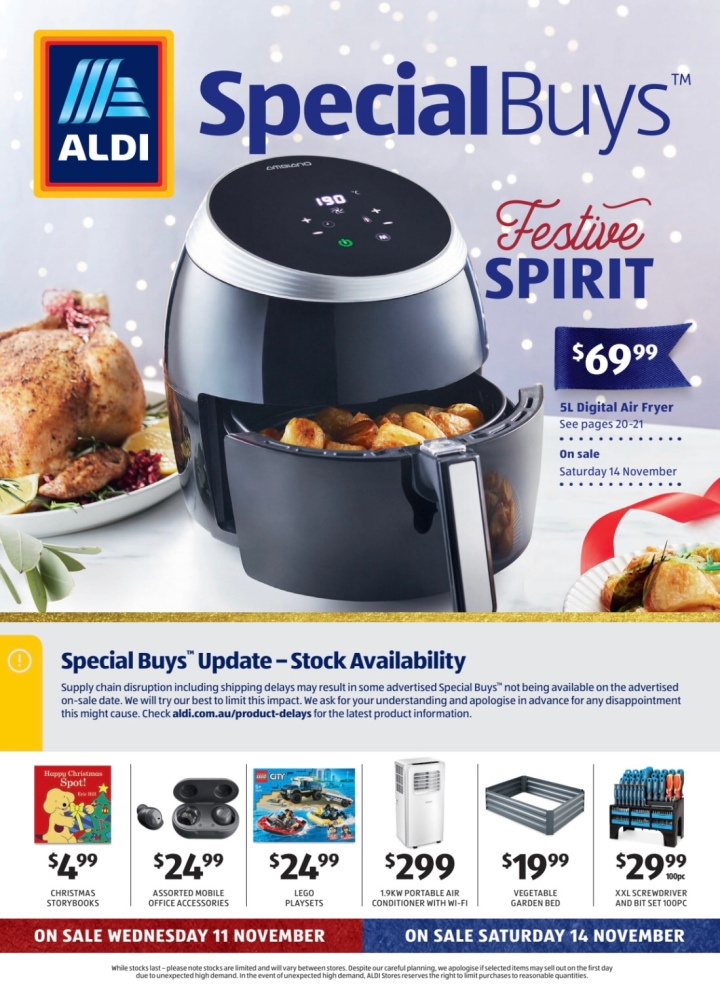 Aldi Australia Catalogue Wednesday 11 November & Saturday 14 November 2020