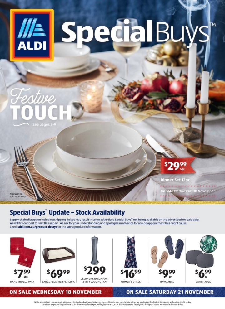 Aldi Australia Catalogue Wednesday 18 November & Saturday 21 November 2020