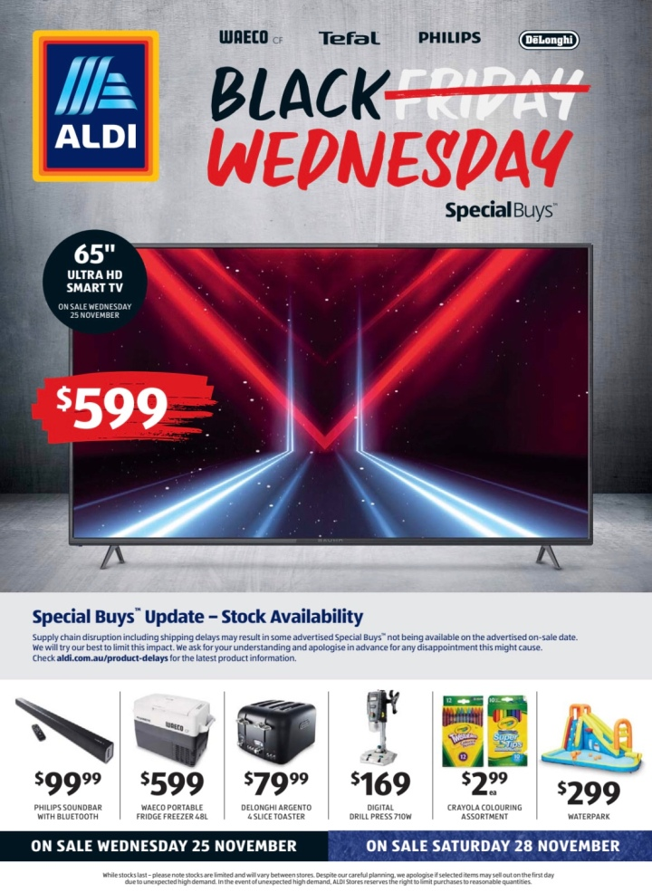 Aldi Australia Catalogue Wednesday 25 November & Saturday 28 November 2020