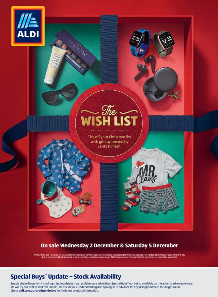 Aldi Australia Catalogue Wednesday 2 December & Saturday 5 December 2020