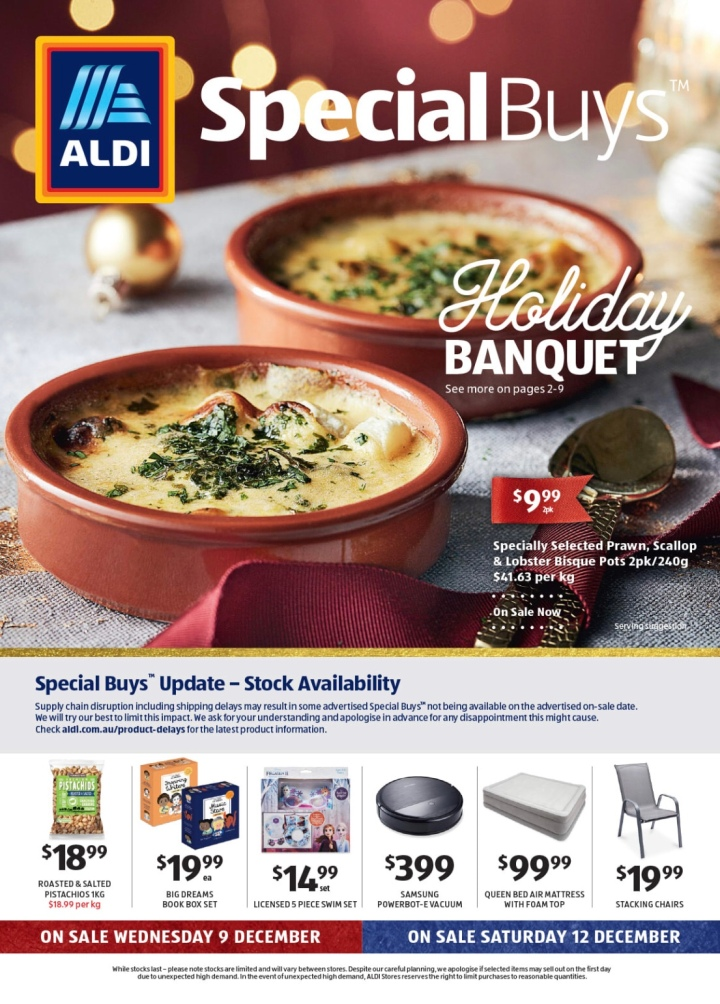 Aldi Australia Catalogue Wednesday 9 & December 12 December 2020