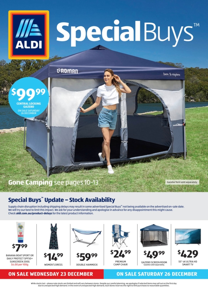 Aldi Australia Catalogue Wednesday 23 December & Saturday 26 December 2020