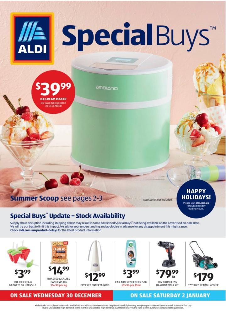 Aldi Australia Catalogue Wednesday 30 December & Saturday 2 January2021