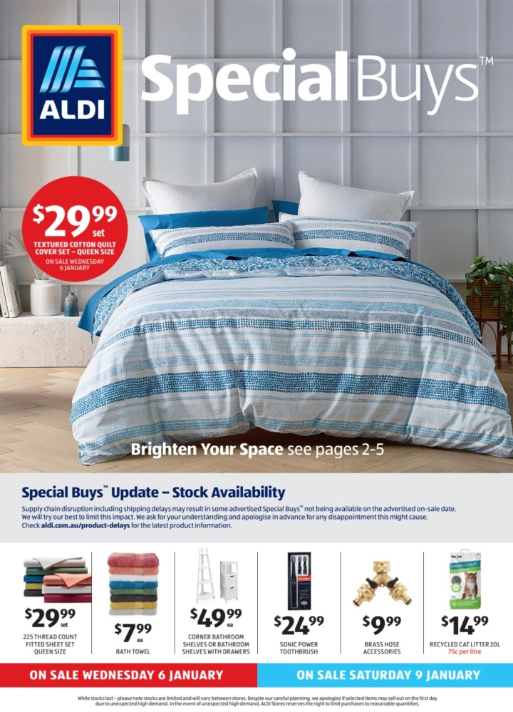 Aldi Australia Catalogue Wednesday 6 January & Saturday 9 January 2021