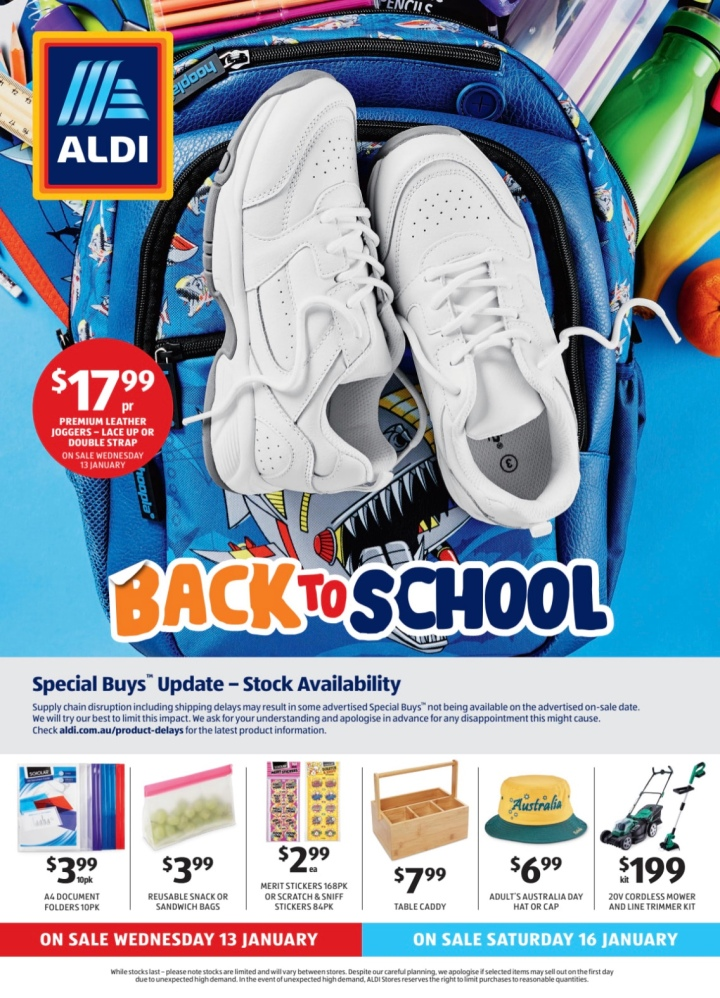 Aldi Australia Catalogue Wednesday 13 & Saturday 16 January2021