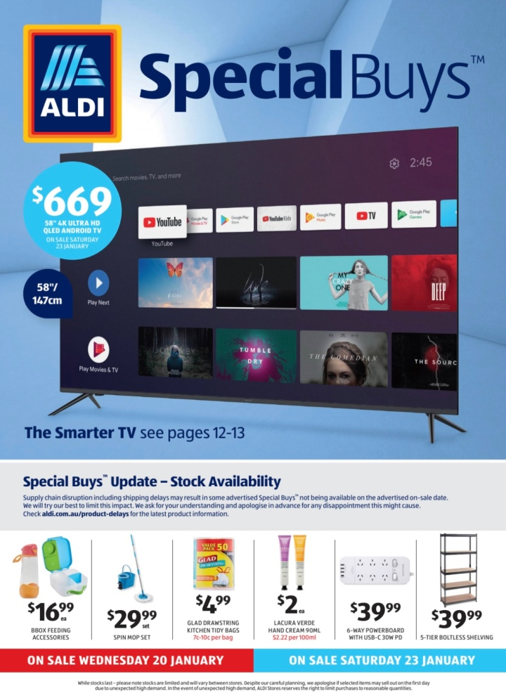 Aldi Australia Catalogue Wednesday 20 & Saturday 23 January 2021