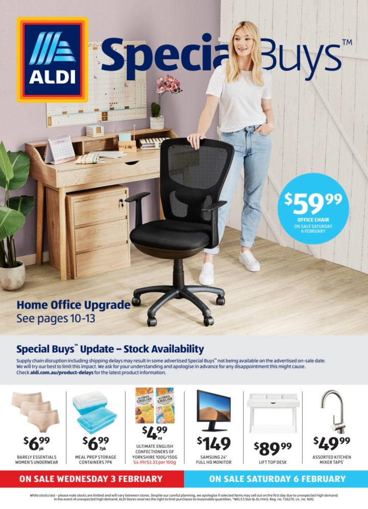 Aldi Australia Catalogue Wednesday 3 February & Saturday 6 February 2021