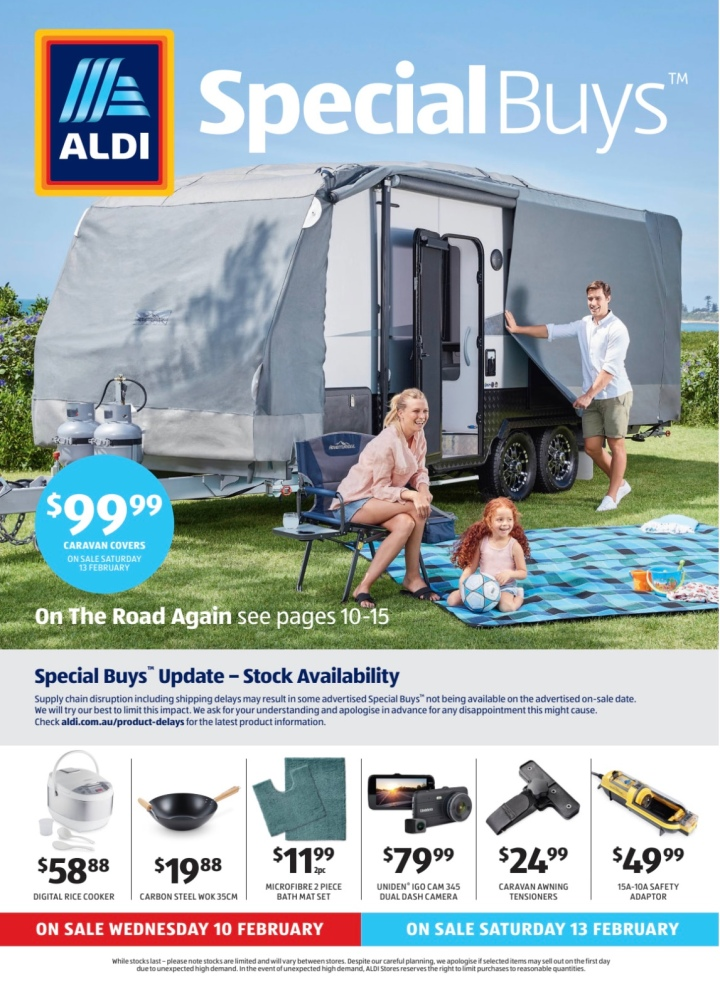 Aldi Australia Catalogue Wednesday 10 February & Saturday 13 February 2021