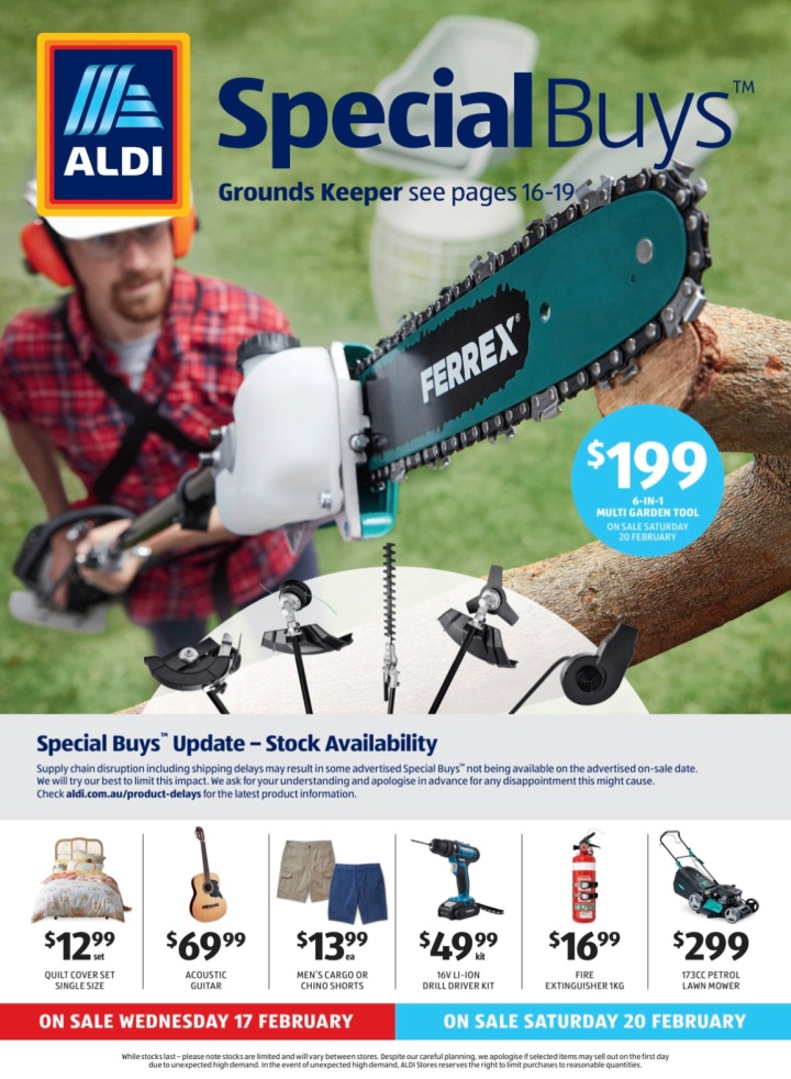 Aldi Australia Catalogue Wednesday 17 February & Saturday 20 February 2021