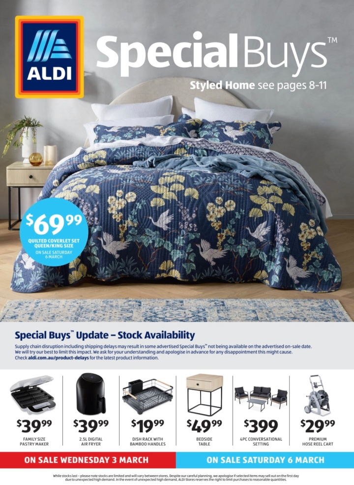 Aldi Australia Catalogue Wednesday 3 March & Saturday 6 March 2021