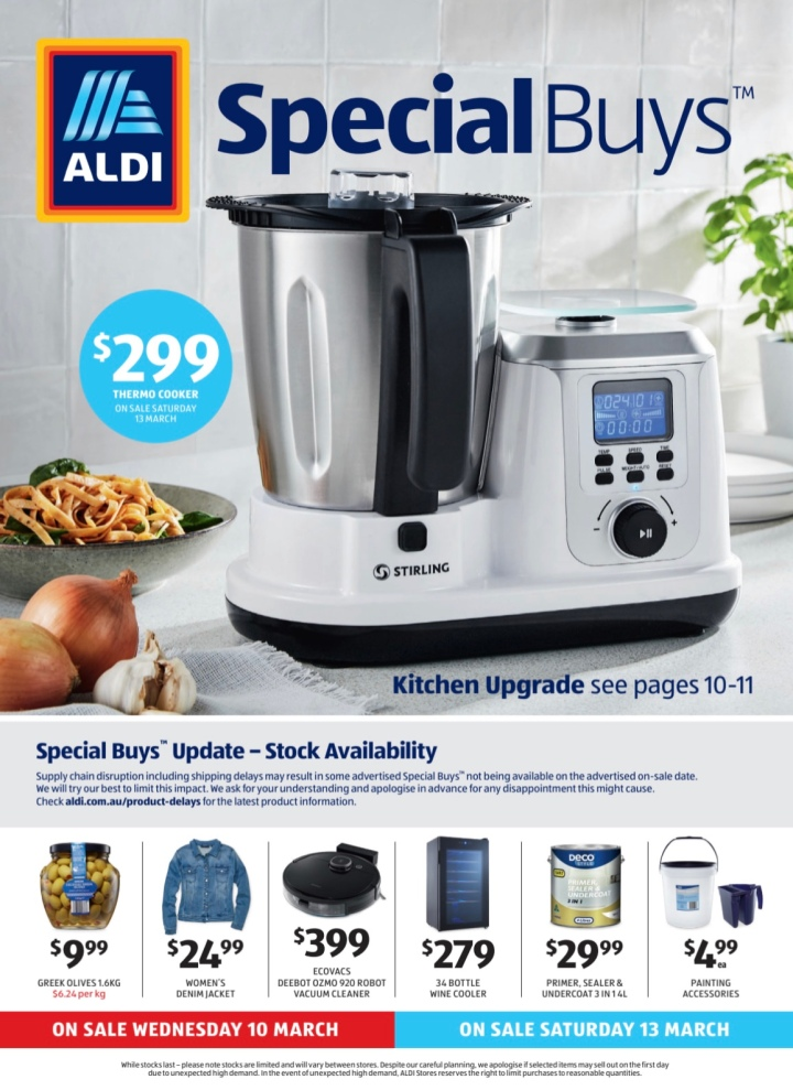 Aldi Australia Catalogue Wednesday 10 March & Saturday 13 March 2021