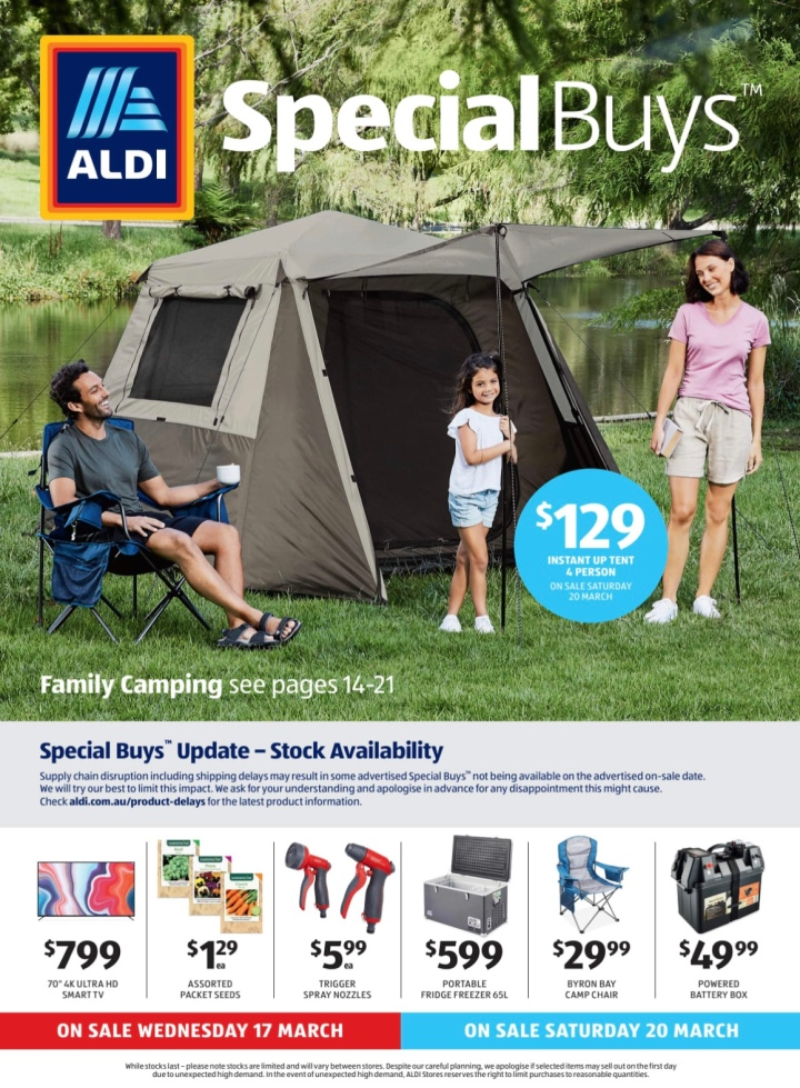 Aldi Australia Catalogue Wednesday 17 & Saturday 20 March 2021